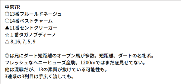 5/15(土) 中京7R