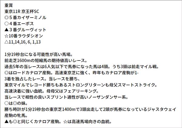 5/15(土) 東京11R