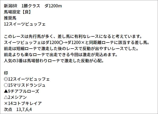 5/9(日) 新潟8R