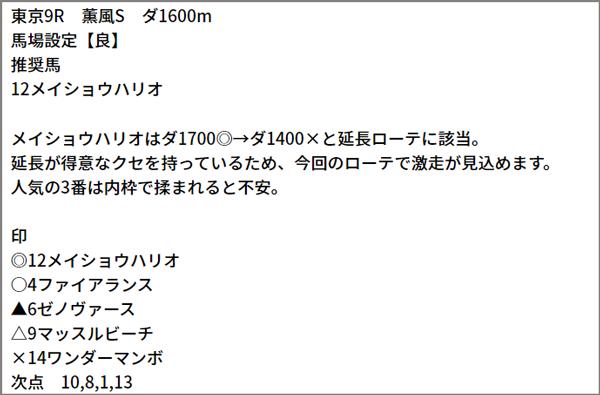 5/30(日) 東京9R
