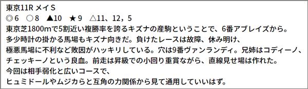 5/22(土) 東京11R