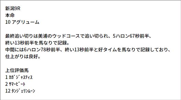 5/15(土) 新潟9R